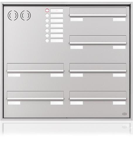 Briefkastenanlage Quadrat für Türseiteneinbau - BWB Kiel
