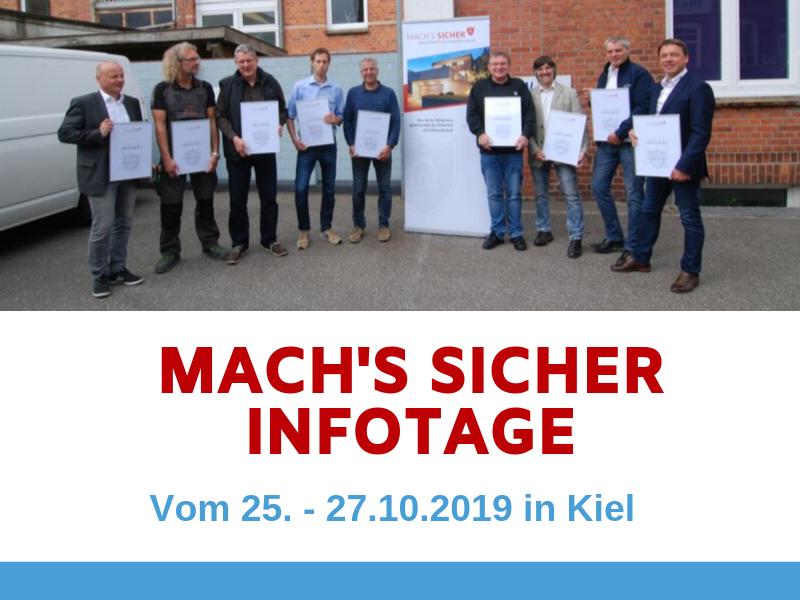 Mach's Sicher Infotage 2019