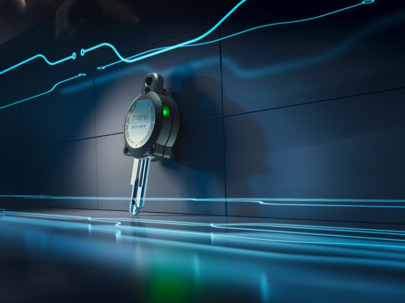 Erzeugt seine Energie selbst - Weltweit erster autarker eCLIQ-Schlüssel von IKON auf dem Markt